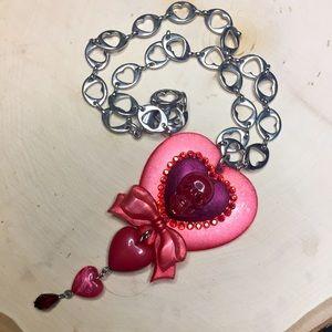 Tarina Tarantino Jewelry - Tarina Tarantino skull heart necklace