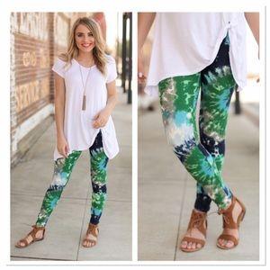 Infinity Raine Pants - Tie dye print leggings OS