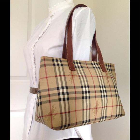 0c35124bcf85 Burberry Handbags - Authentic Burberry haymarket check bag