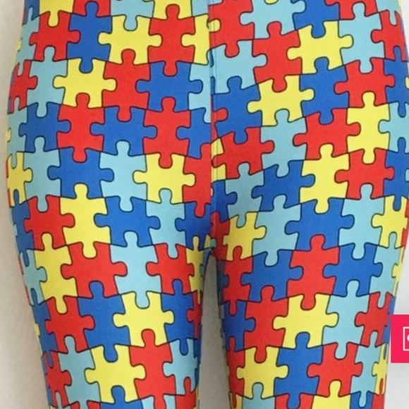 37ced71a82fdc3 Charlies Project not Lularoe Pants | Nwt Tc Autism Awareness Puzzle ...