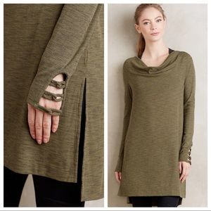 Anthropologie Tops - Anthro Cowled jersey tunic