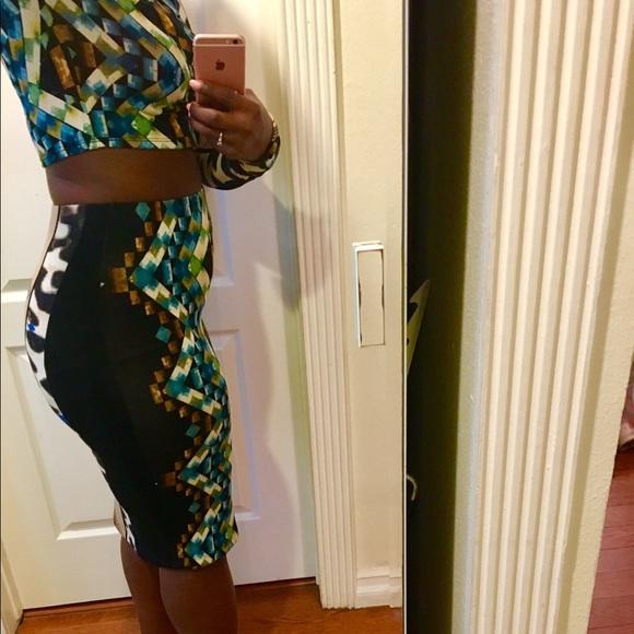 40 sans souci dresses skirts printed pencil skirt
