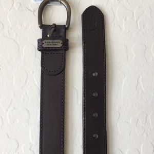 Abercrombie & Fitch Accessories - A&F dark brown leather belt