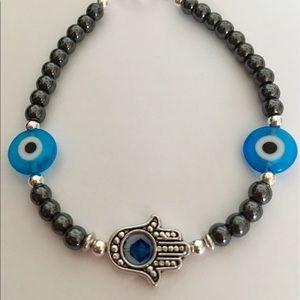 Jewelry - Lucky Evil Eye Hamsa Hand Bracelet/Anklet