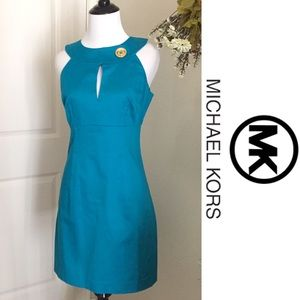 Michael Kors Dresses & Skirts - Michael Kors Teal Pinafore Dress-Offers Considered