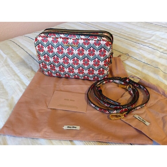 32% Off Miu Miu Handbags - MIU MIU Limited Edition Floral Camera Bag From Morganu0026#39;s Closet On ...