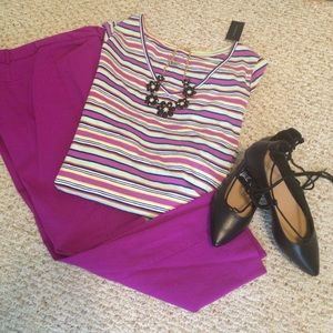 NWT Lane Bryant Striped T-Shirt