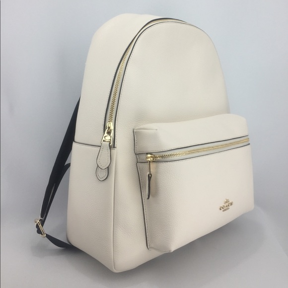 ed2638d89 Coach Bags | Large Charlie Pebbled Leather Backpack | Poshmark