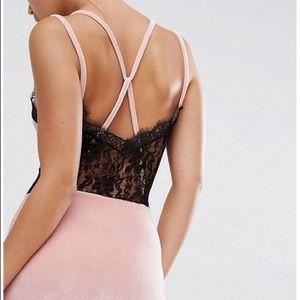 Boohoo Dresses & Skirts - Brand new BooHoo ASOS velvet and lace midi dress!