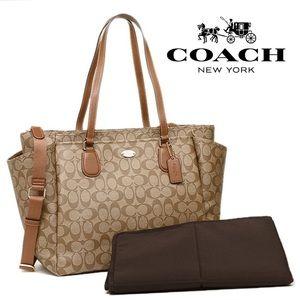 Coach Handbags - Coach Diaper Baby Bag Travel signature multi Tote