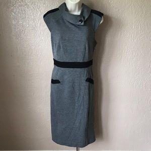 London Times Gray Sheath Dress