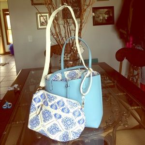 new directions Handbags - GORGEOUS, NEW Baby Blue Bag Duo!!