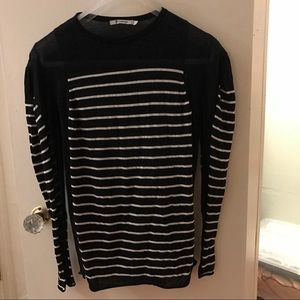 T by Alexander Wang Sweaters - T by Alexander Wang Blue & White Striped Top