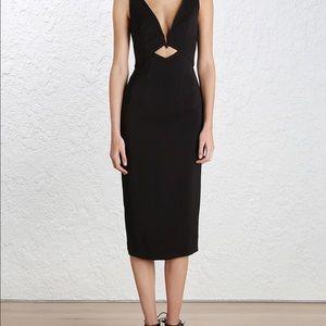 Zimmermann Dresses & Skirts - Zimmerman black plunge v-wire stretch dress