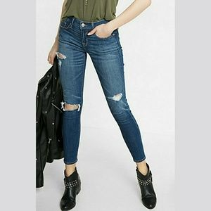 Express Denim - NWT Express Distressed Cropped Jean Leggings