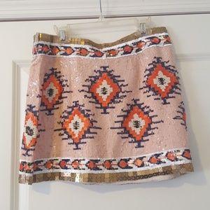 NWT Zara sequin pattern skirt