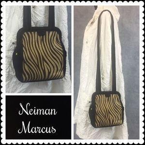 💥 SALE 👜 VTG Neiman Marcus Ponyhair Bag
