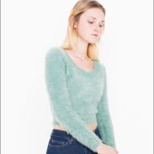 American Apparel Fuzzy Cropped Sweater NWT