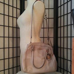 Coach Tan Leather/Silver Shoulderbag/Handbag