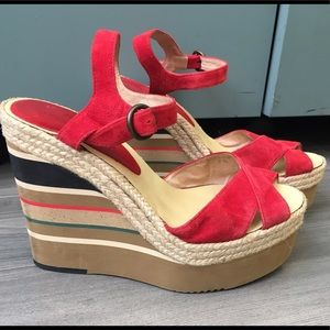 Anthropologie Andre Assous Wedge Espadrilles