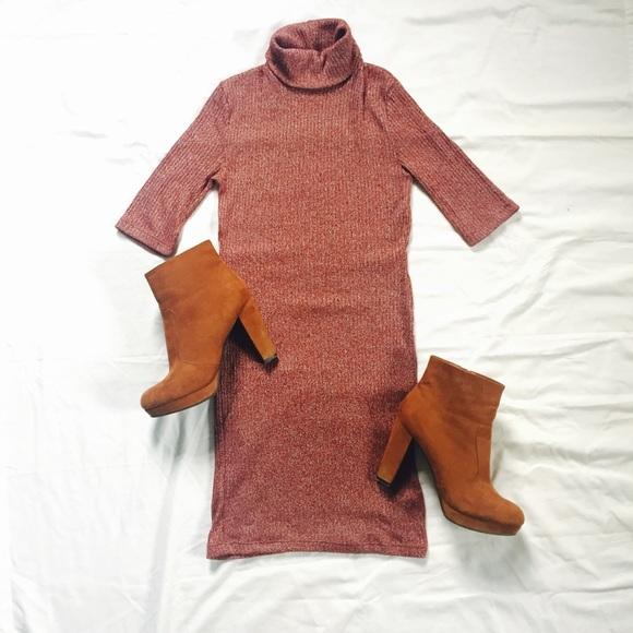 60d3aadd537 TOPSHOP  Turtleneck Sweater Dress. M 59160ad436d594b9fa070572