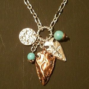 Jewelry - Boho Turquoise charm necklace