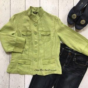 Mossimo Supply Co. Jackets & Blazers - Mossimo chartreuse linen jacket