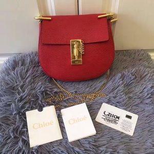 Chloe Handbags - Chloe Hot Red Drew