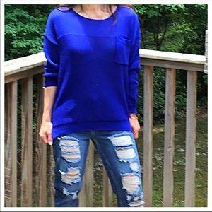 Sweaters - Royal blue light sweater