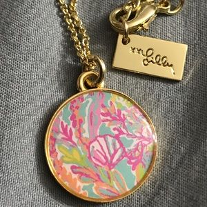 Gold Lilly Pulitzer necklace