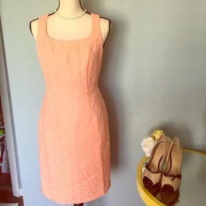 The Limited peach dress