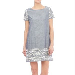 Everly Dresses & Skirts - Everly denim chambray lace detail dress size s