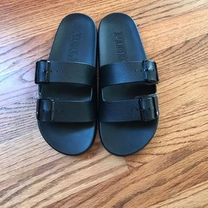 41cefa7d48310 Pink Victoria secret buckle slides size small 7