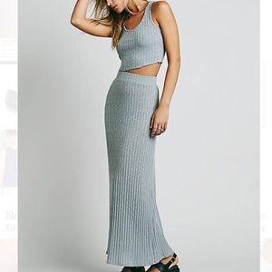 Free people beach maxi skirt XS NWT