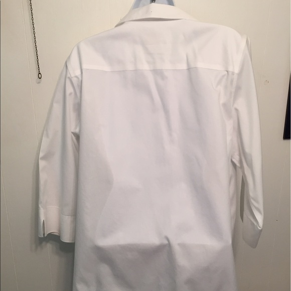 80 off chico 39 s tops chico 39 s 3 4 sleeve cotton no iron for No iron cotton shirts