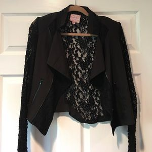 Romeo and Juliet Couture Lace Blazer
