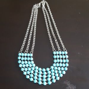 Jewelry - Turquoise and Silver Necklace - Fashion Jewelry