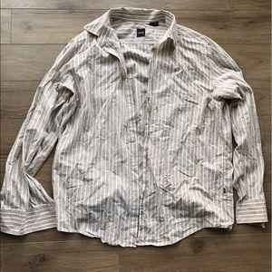 Hugo Boss Other - Boss Hugo boss stripe bottom down shirt XL