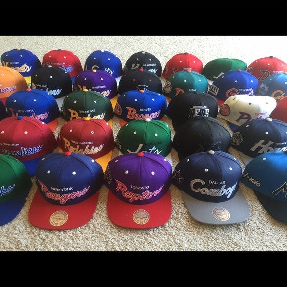 aee79f6cb49 SnapBack Team Hats Wholesale. Boutique. Mitchell   Ness