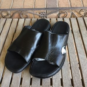 Mens Black Cole Haan Nike Air Lab Slide On Sandals