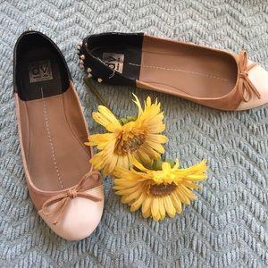 DV by Dolce Vita Shoes - DV Dolce Vita Studded Tan & Black Flats Size 9