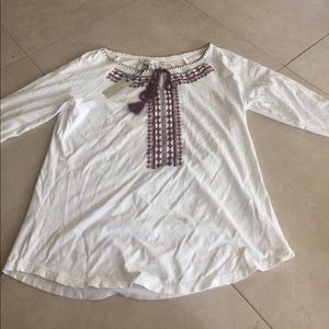 Fat Face Tops - Fatface Peasant top.  Size 8