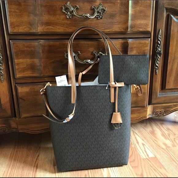 dec7dc097e439 New Michael Kors MK Handbag Large Purse Bag