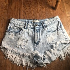 Bullhead Pants - Patriotic Distressed High Rise Shorts