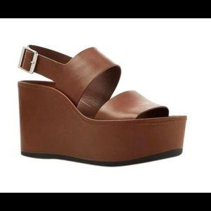 Vince Shoes - NWOT Vince Idalia Brown Platform Sandal