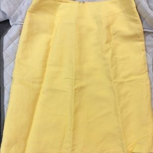Anne Marie Dresses & Skirts - Sunny🌞Yellow Linen A-line/pencil skirt Sz4