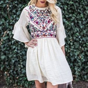 Vici Collection Dresses & Skirts - Embroidered Boho Dress
