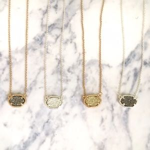 Delicate Druzy Necklace