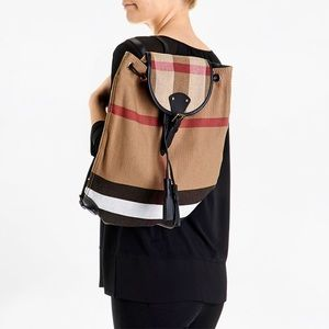 Burberry Bags Canvas Leather Children Backpack Poshmark