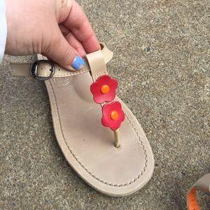 Kickers Shoes - Women's Kickers Floral T-Strap Sandals Size 9/39